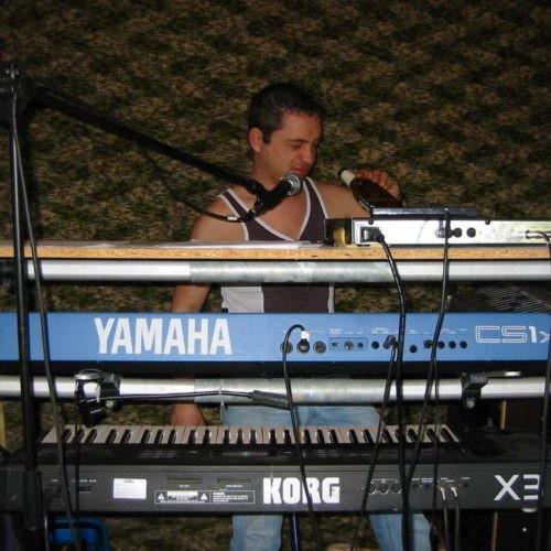 2004 Probe bei der Rockband Zornigel- Bier leer