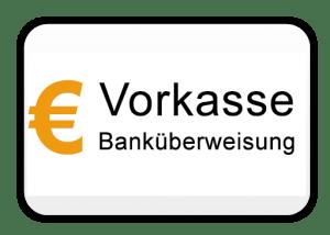 Vorkasse Banküberweisung