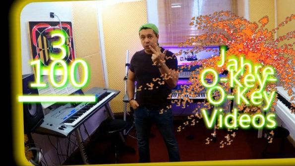 "Thumbnail-Link zum 100. O-Key-Keyboardlehrvideo ""MIDI-Multitrackrecording"""