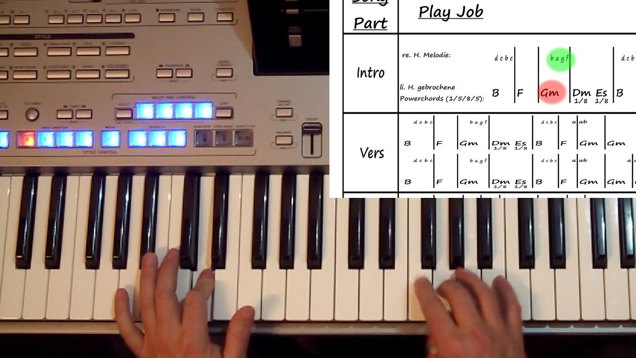 Hände spielen Popsong in Klavierschule & Keyboardschule