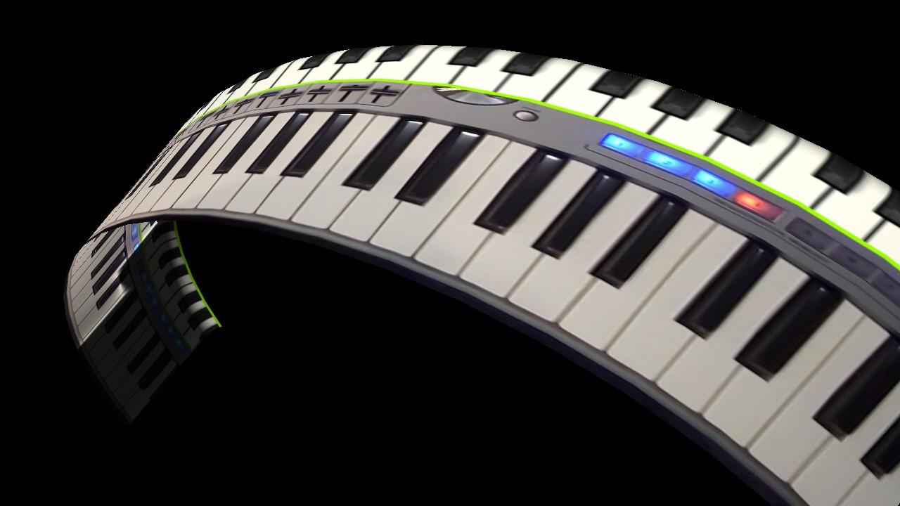 Effektbild-Szene rund gebogene Keyboard-Tastatur