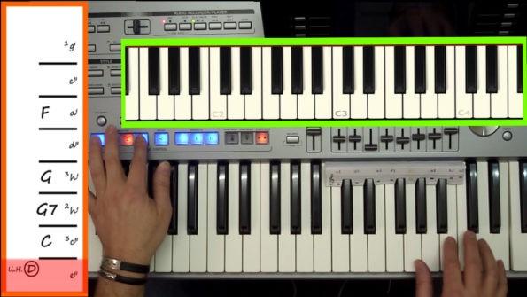Thumbnail-Button zu Keyboardschule Video Fill-In 2