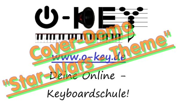 Thumbnail-Button zu Keyboardschule Cover-Demo Video Starwars-Theme