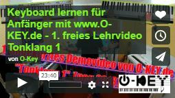 Keyboard lernen mit dem Startvideos Tonklang 1