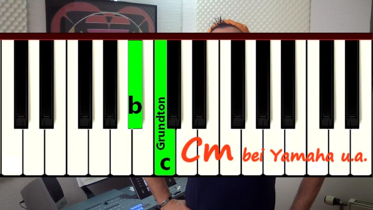 Erklärung der Yamaha-SFC-Technik am Keyboard