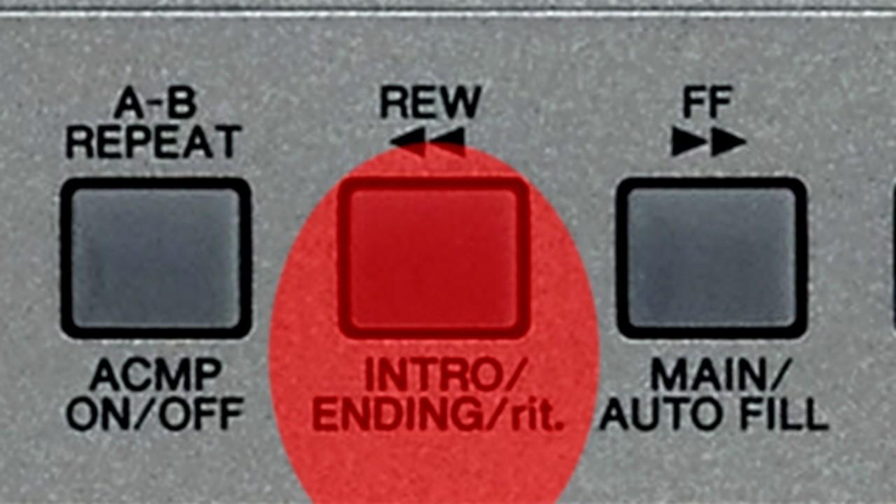 Intro- und Endingtaste bei einem Einstiegskeyboard
