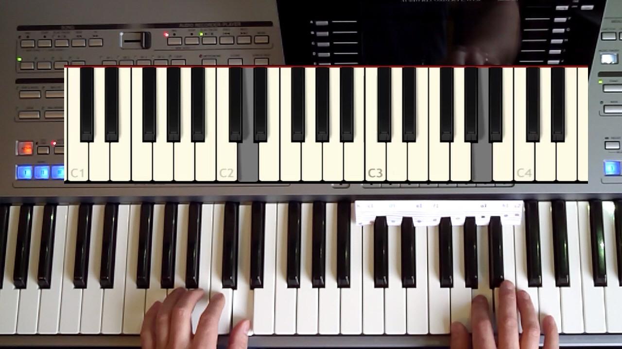 Hände spielen Keyboard im online Keyboard Tutorial