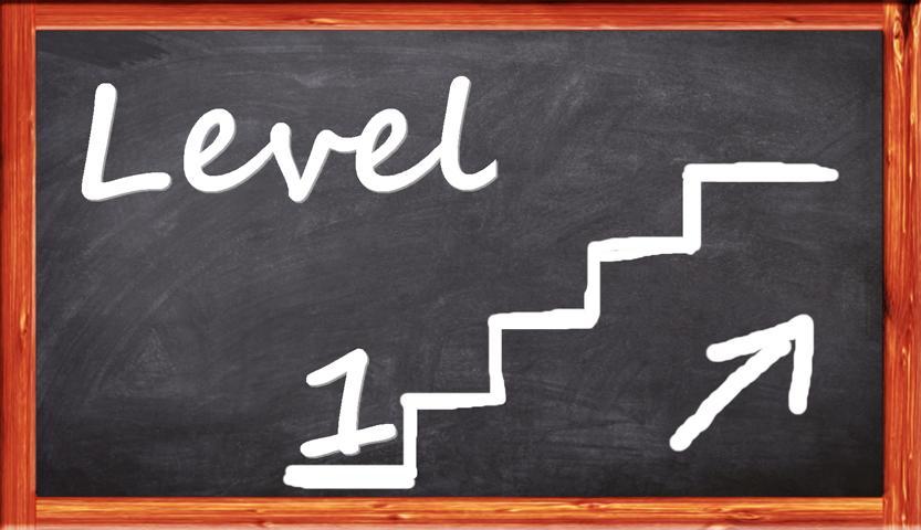 im Einsteigerkeyboard Level 1 treppaufwärts voran