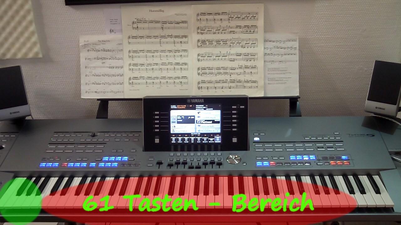 Erklärung der Tonordnung beim Keyboard online spielen