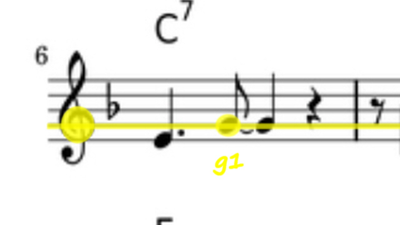Info-Abbildung mit Violischlüsselnote g1