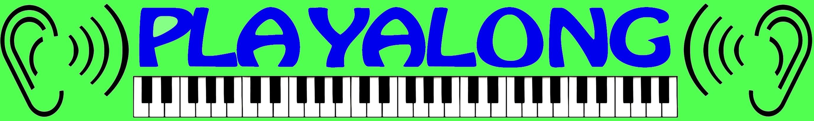 Playalong-Mitspielvideo Thumbnail-Symbol grün blau schmal
