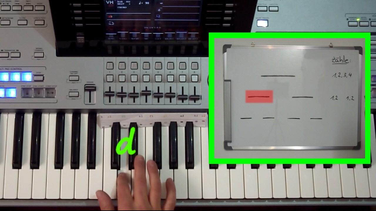 Rhythmik-Erklärung im Keyboard Tutorial