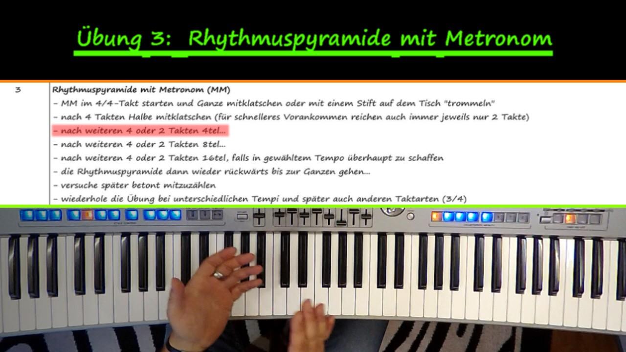 Klatschübung zur Verbesserung der Rhythmuskoordination am Keyboard