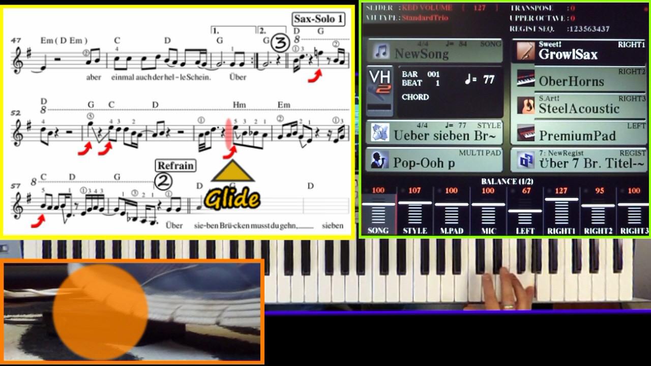 Keyboard lernen mit Noten und Fußtaster