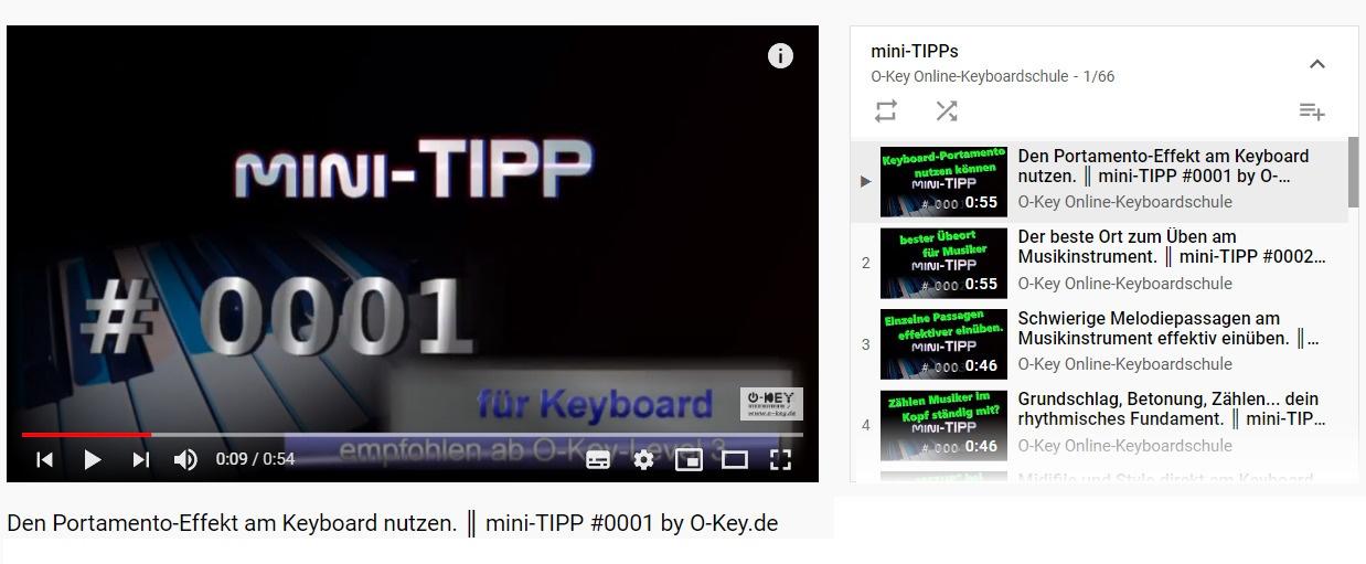 Screenshot mini-TIPP-Playlist auf Youtube