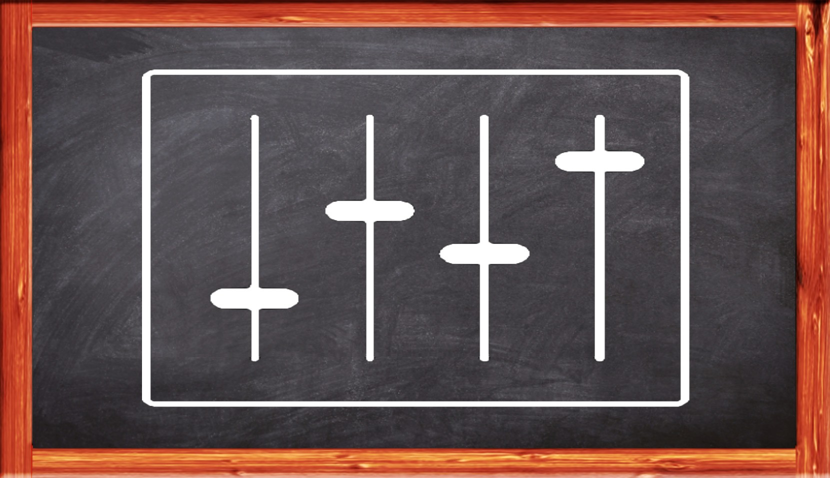 Equalizer-Symbol auf Tafel